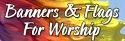 Purchase silk worship banners - 60 unique designs.
