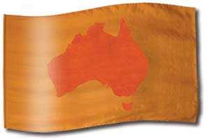 "The design ""Australian Ochre"" in hand crafted silk"