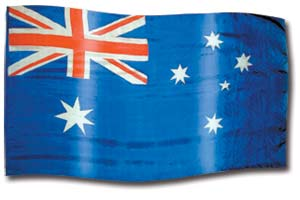 "The design ""Australia"" in hand crafted silk"