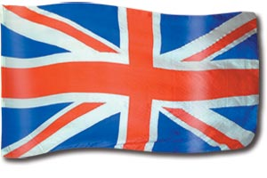 "The design ""United Kingdom"" in hand crafted silk"