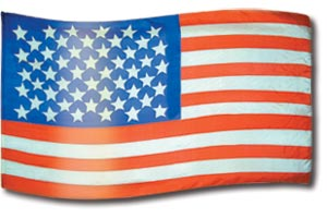 "The design ""United States of America"" in hand crafted silk"