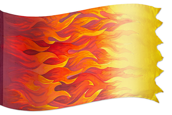 "The design ""Pentecost Fire"" in hand crafted silk"