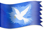 silk banner Design: Peace