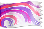 silk banner Design: Tsunami - Waves of Love